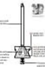 "Atlas Mill Chrome Plated Brass 8"" Salt Mill by Atlas Mills #208"