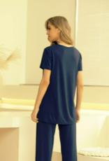 Orange Fashion Village Bamboo Top Short Sleeve Top
