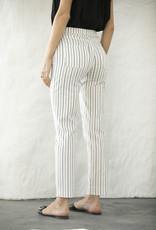 Orange Fashion Village Striped Pant