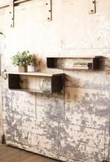 Kalalou Set of 2 Metal and Wood Shelves