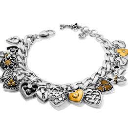 Brighton One Heart Charm Bracelet