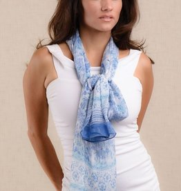 Sevya Handmade Sheela Chiffon Scarf Light Blue