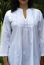 Sevya Handmade Kamalika Embroidered White Tunic