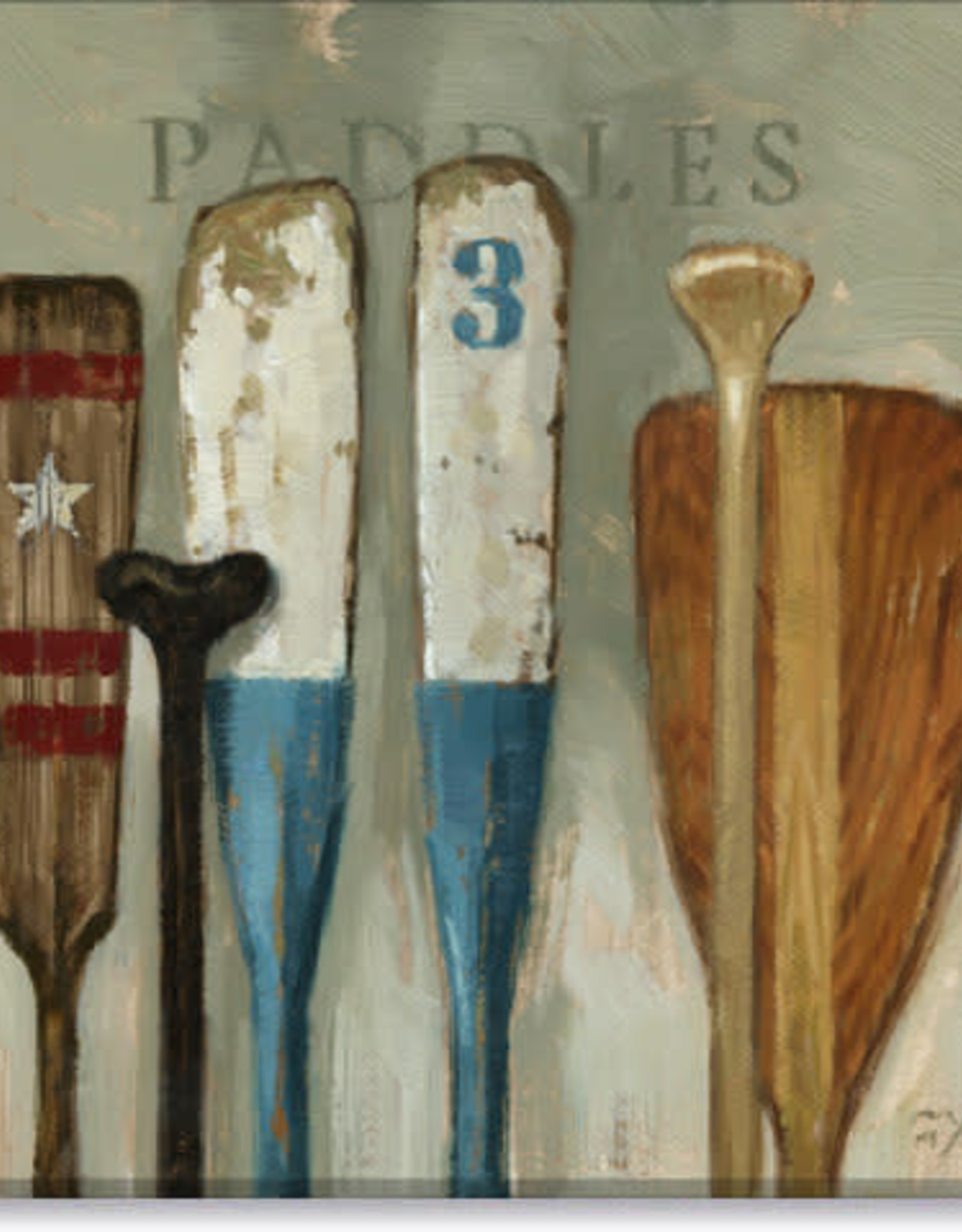 Sullivans Paddles Giclee Wall Art 20x20