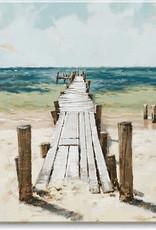 Sullivans Beach Dock Giclee Wall Art 20x20