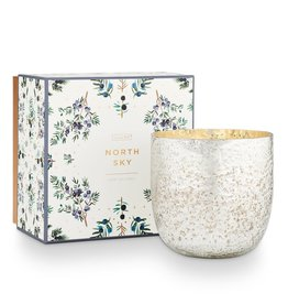 North Sky Sanded Mercury Glass Candle