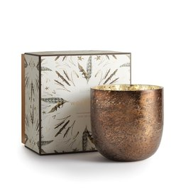 Woodfire Luxe Sanded Mercury Glass Candle