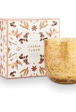 Cassia Clove Sanded Mercury Glass Candle