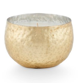 Winter White Demi Iced Metal Candle
