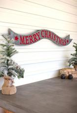 Kalalou Metal Merry Christmas Banner
