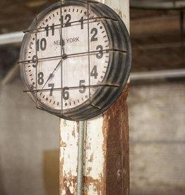 Kalalou Metal New York Subway Clock
