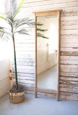 Kalalou Tall Wood Framed Floor Mirror