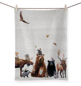 Greenbox Art Woodland Bunch Tea Towel