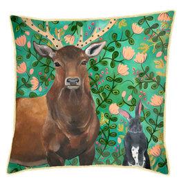Greenbox Art Staring Contest Pillow