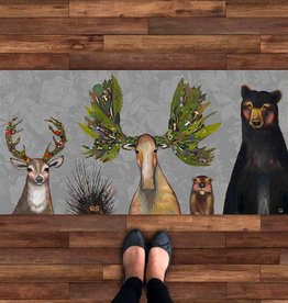 Greenbox Art The Forest Five - Floral Floorcloth