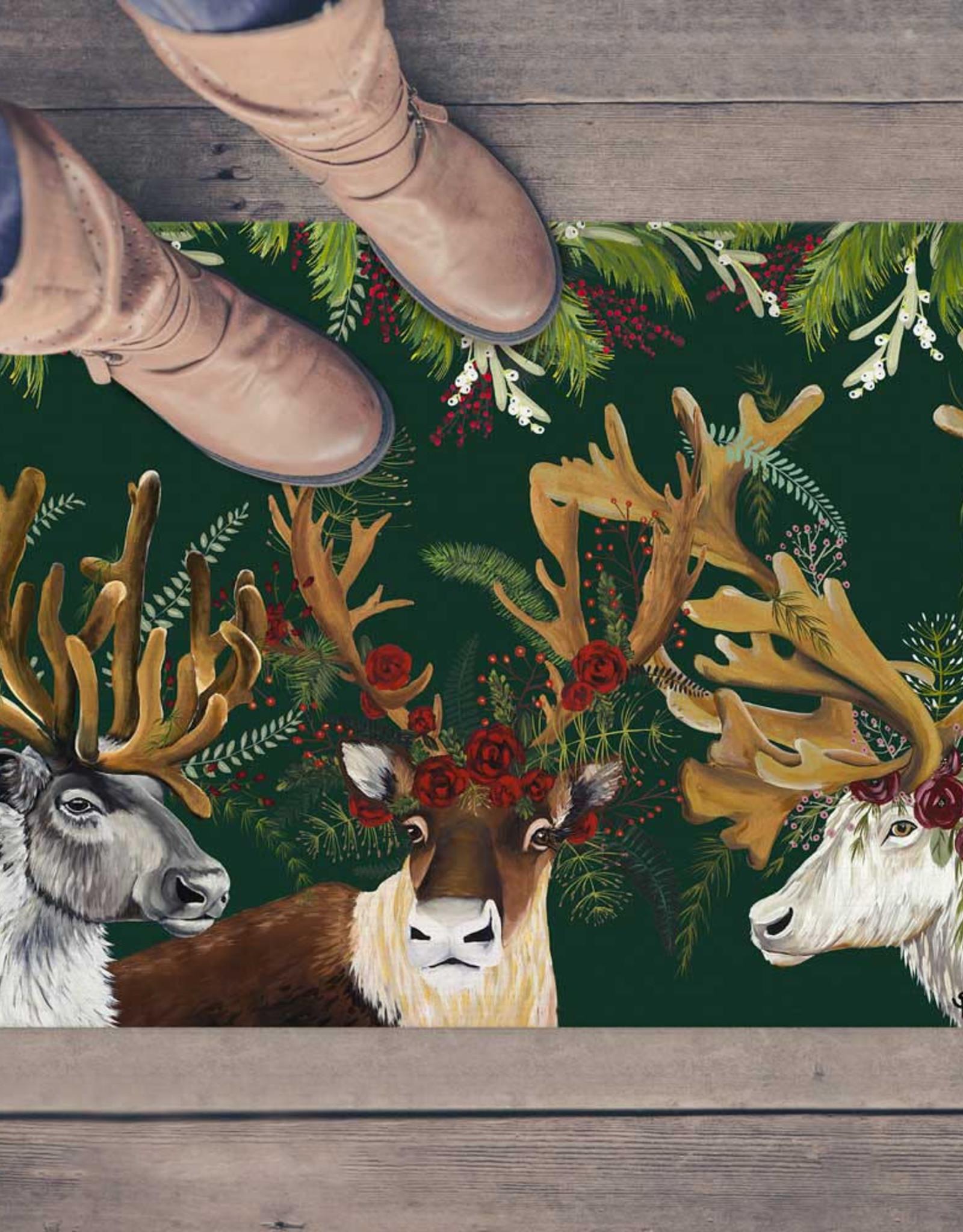 Greenbox Art Flora & Fauna - Antlers Abound Floorcloth