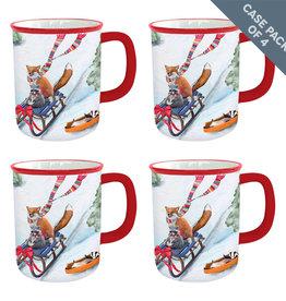 Greenbox Art Holiday - Winter Fun For Everyone - Case Pack Qty 4 Units Serveware Mug