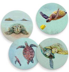 Greenbox Art Tropical Turtles - Set of 4 Coasters