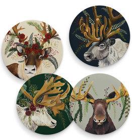 Greenbox Art Flora & Fauna - Antlers Abound - Set of 4 Coasters