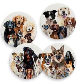 Greenbox Art Best Friend - Dog Bunch - Set of 4 Coasters