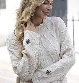 Orange Fashion Village Cable Knit Sweater