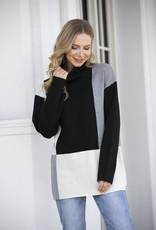 Orange Fashion Village Modern Colour Block Sweater
