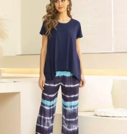 Orange Fashion Village Tye-Dye Pant Navy
