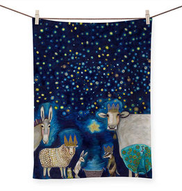 Greenbox Art Holiday - Animal Nativity Tea Towel
