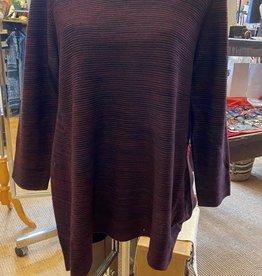 Orange Fashion Village Black/Purple Sweater Tunic