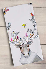 Greenbox Art Holiday - Gingerbread Caribou Tea Towel