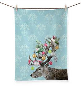 Greenbox Art Holiday - Ornamental Deer Tea Towel