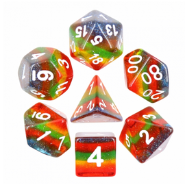 Goblin Dice Triple Rainbow Dice Set