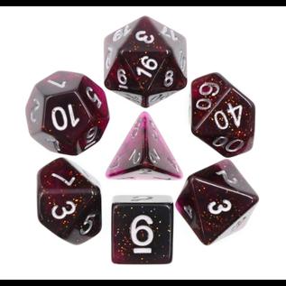 Goblin Dice Purple Glitter Glow Dice Set