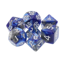 Goblin Dice Silver and Lapis Dice Set