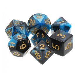 Goblin Dice Lapis and Obsidian Dice Set