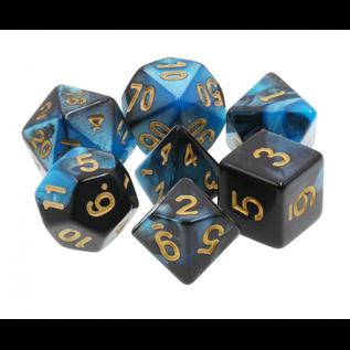 Goblin Dice Lapis and Obsidian Dice Set
