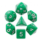 Goblin Dice Green Opaque Dice Set