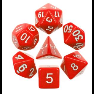 Goblin Dice Red Opaque Dice Set