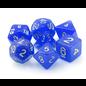 Goblin Dice Silver Sapphire Dice Set