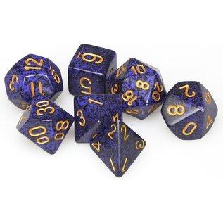 Golden Cobalt Speckled Dice Set
