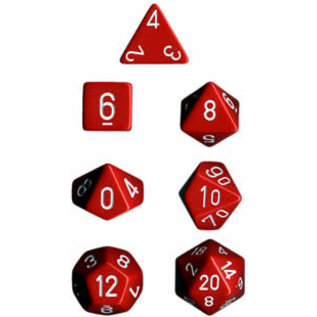 Red Opaque Dice Set