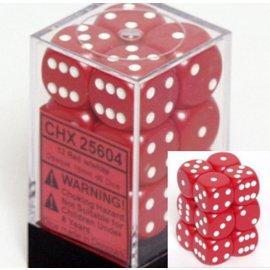 Red Opaque 16mm D6 Block