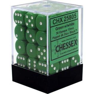 Green Opaque 12mm D6 Block (36)