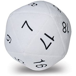 Jumbo D20 Plush Dice White