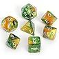 Gold & Green Gemini Dice Set