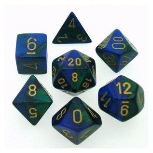 Blue Green Gold Gemini Dice Set