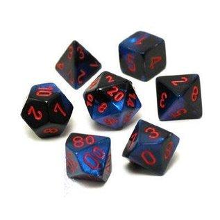 Black Starlight with Red Gemini Dice Set