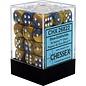 Blue & Gold Gemini 12mm D6 Block