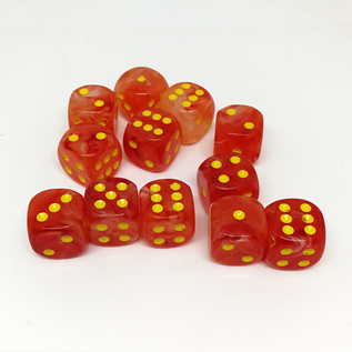 Ghostly Glow Orange 16mm D6 Block
