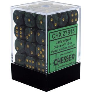 Jade Scarab 12mm D6 Block (36)